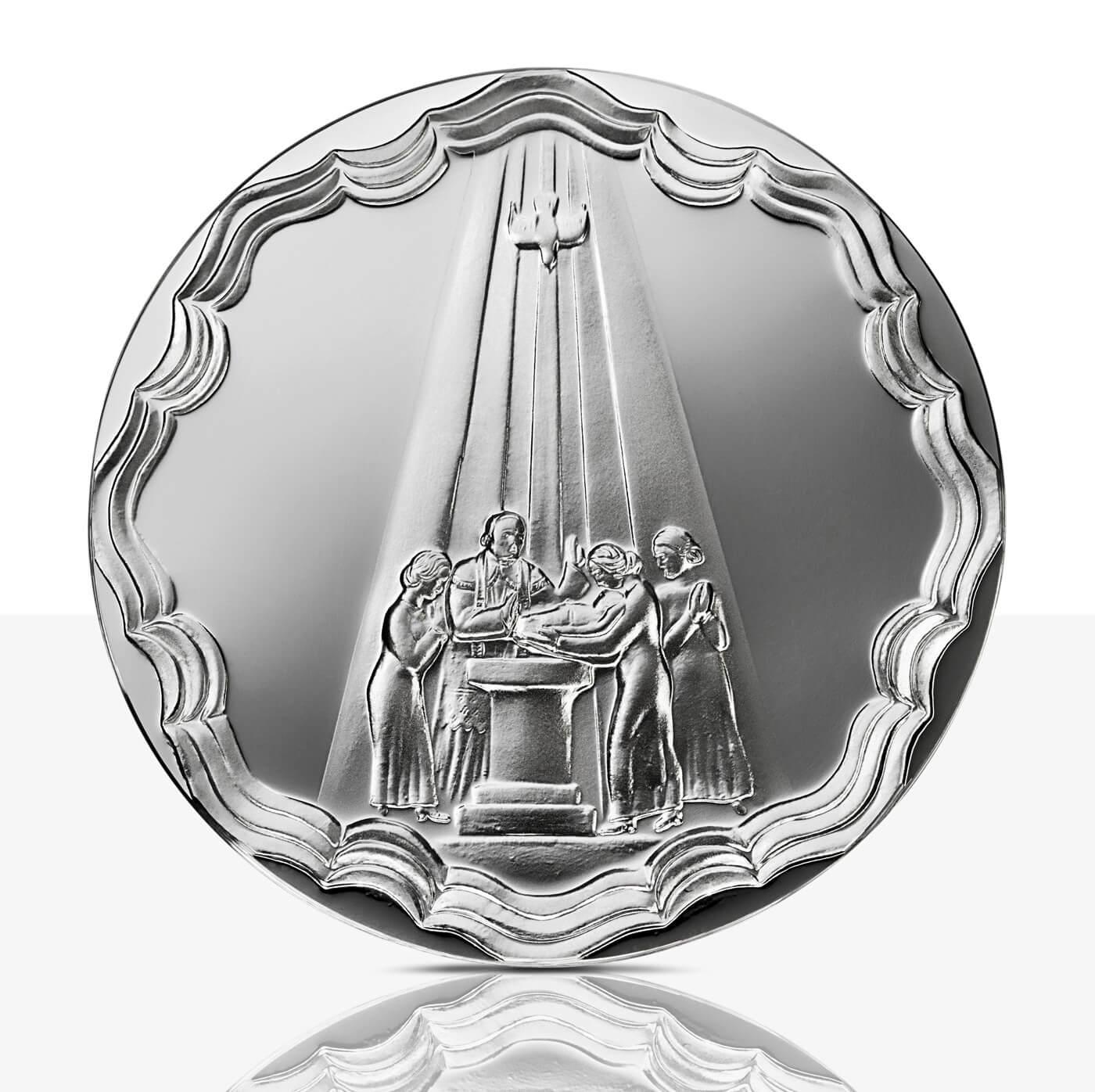 Baptism Medal Fine Silver Proof Staatliche Münzen Baden Württemberg
