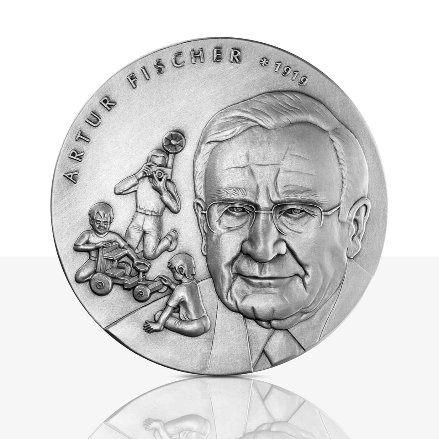 Artur Fischer Silver Medal In High Relief Staatliche Münzen