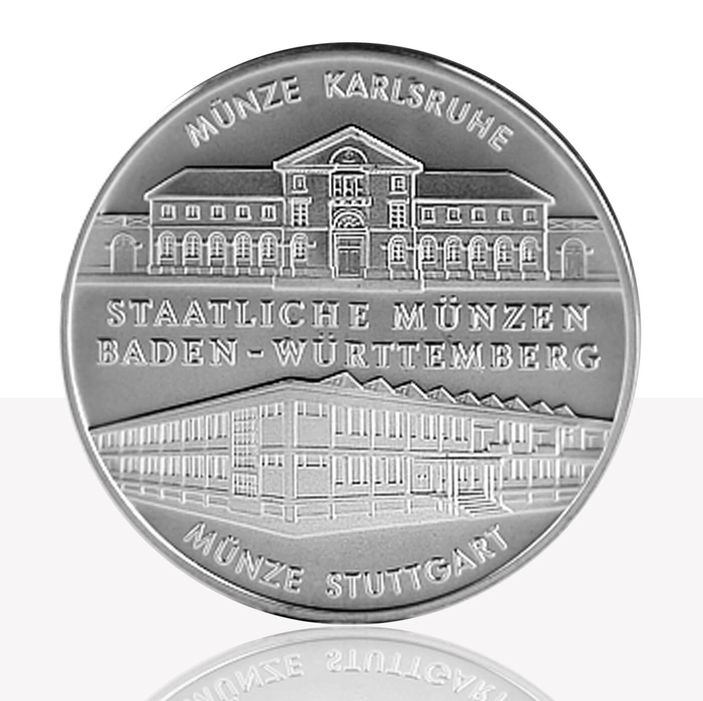 Stuttgart And Karlsruhe Mint Medal Fine Silver Staatliche Münzen