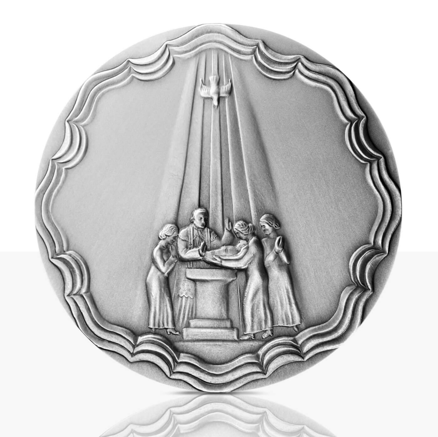 Taufmedaille Feinsilber Patiniert Staatliche Münzen Baden Württemberg