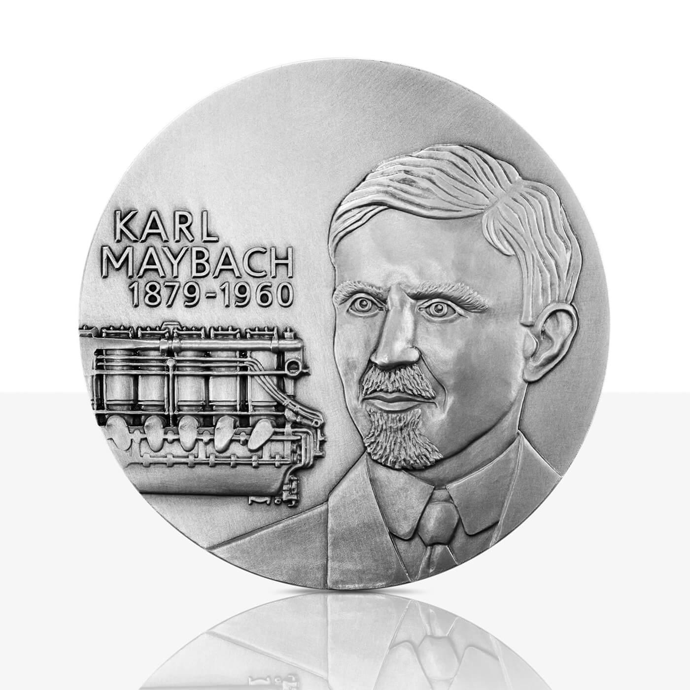 Karl Maybach – Silver medal in high relief – Staatliche Münzen