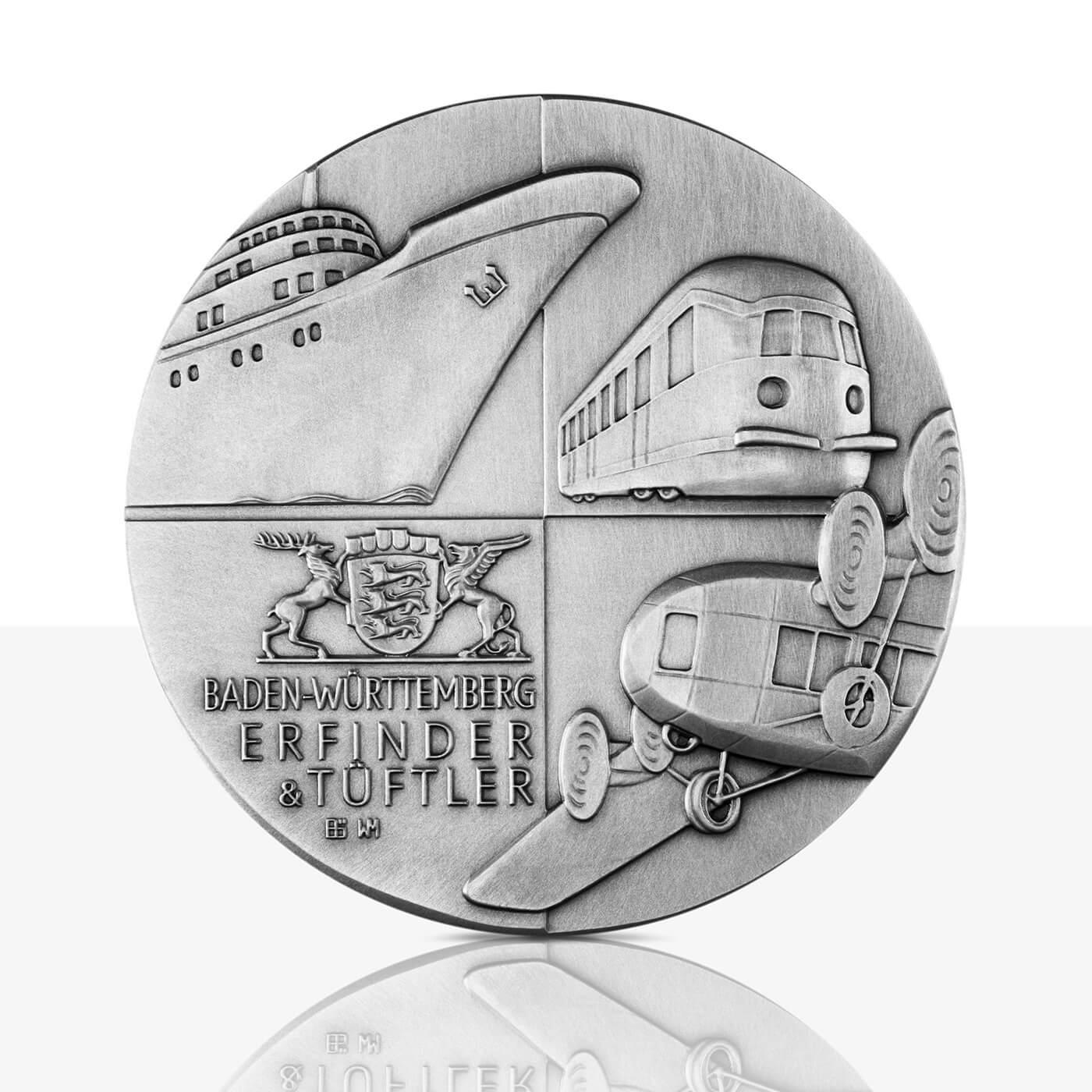Karl Maybach Hochrelief Medaille Feinsilber Staatliche Münzen
