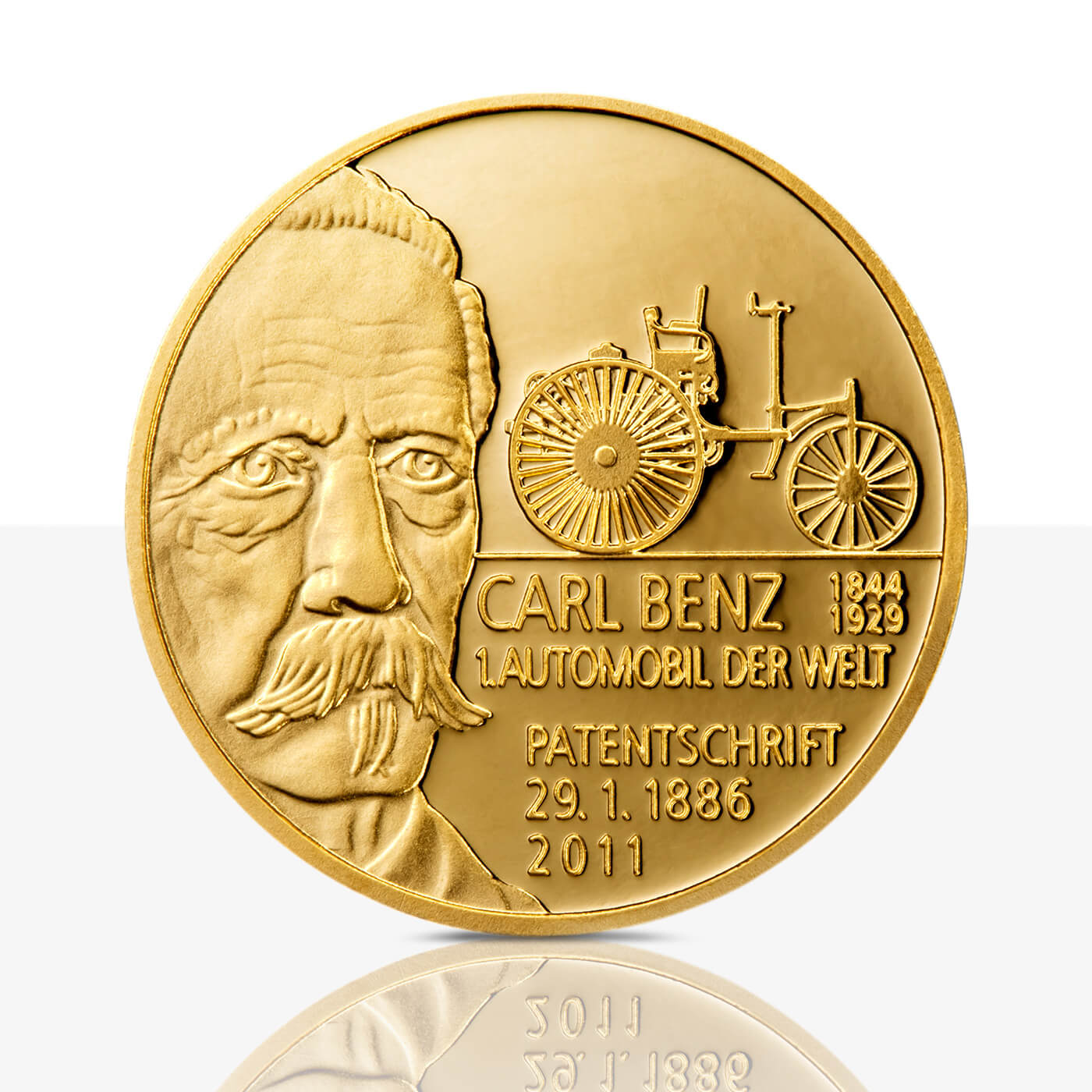 Carl Benz And Gottlieb Daimler Gold Medal Proof