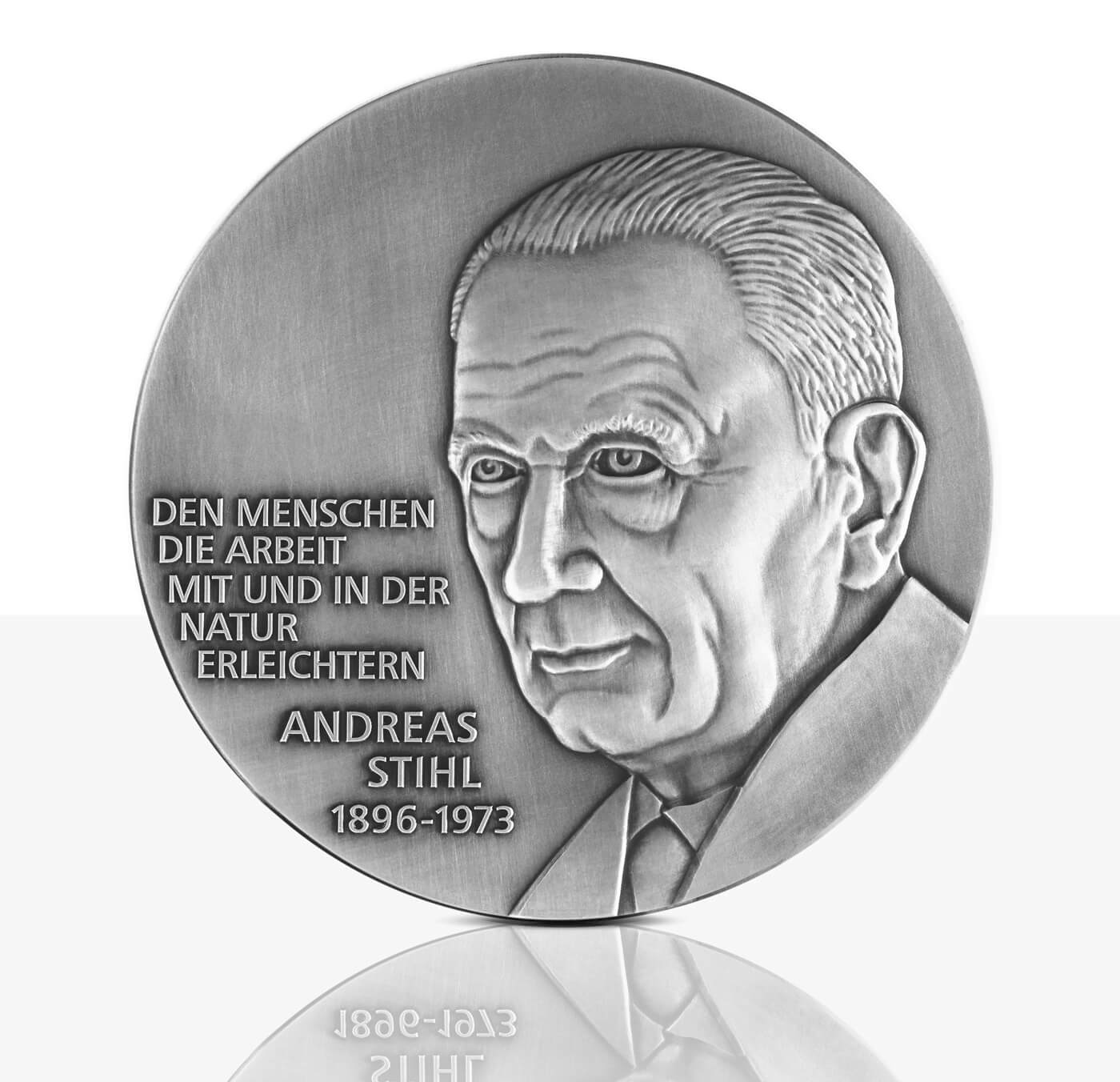 Andreas Stihl - Silver medal in high relief