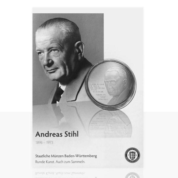 Andreas Stihl Versilberte Medaille In Medaillenkarte Staatliche