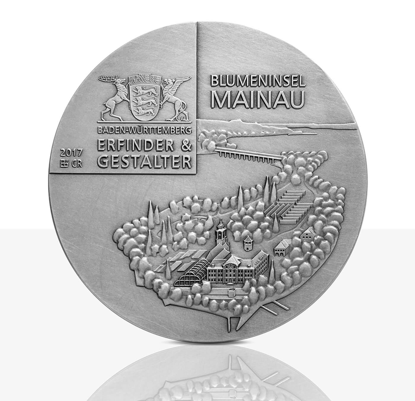 Graf Lennart Bernadotte Hochrelief Medaille Feinsilber
