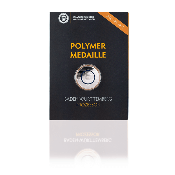 Polymer Feinsilbermedaille In Medaillenkarte Baden Württemberg